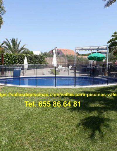 Instalación Vallas para piscinas jardines precio Betera Valencia 1