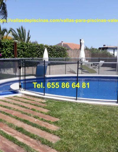 Instalación Vallas para piscinas jardines precio Betera Valencia 2