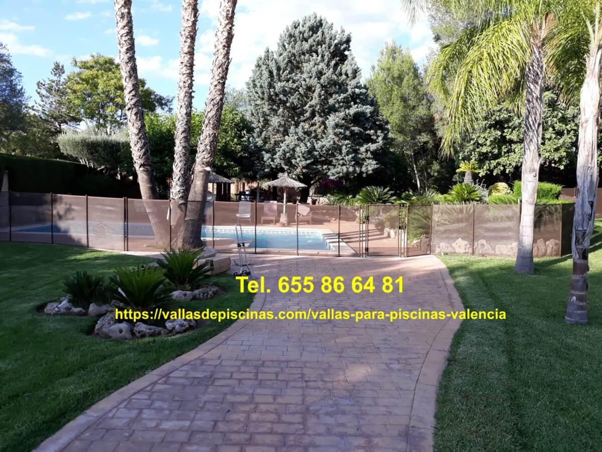 Instalación Vallas para piscinas valencia - Urbanización Pedralvilla - Betera