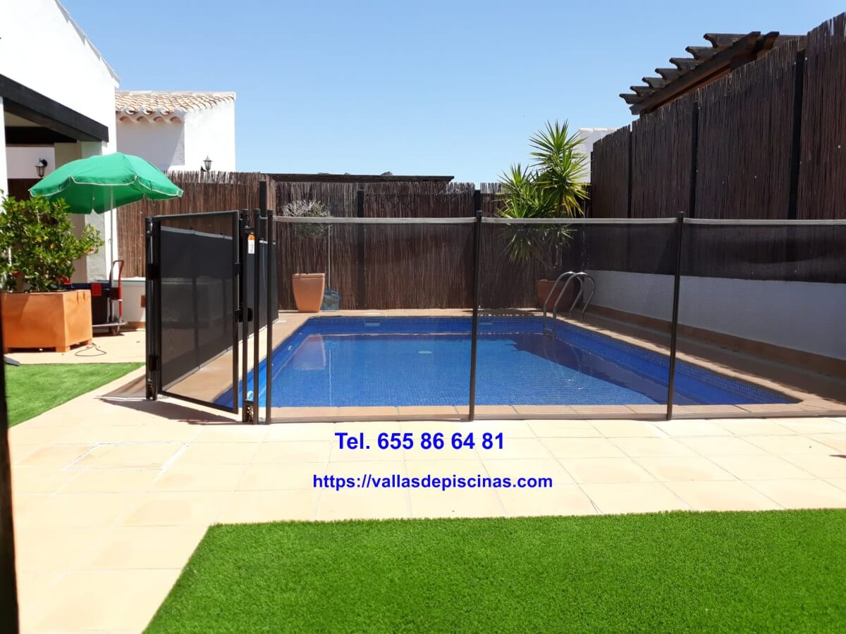 Instalacion de vallas para piscinas y jardines- casa en valencia